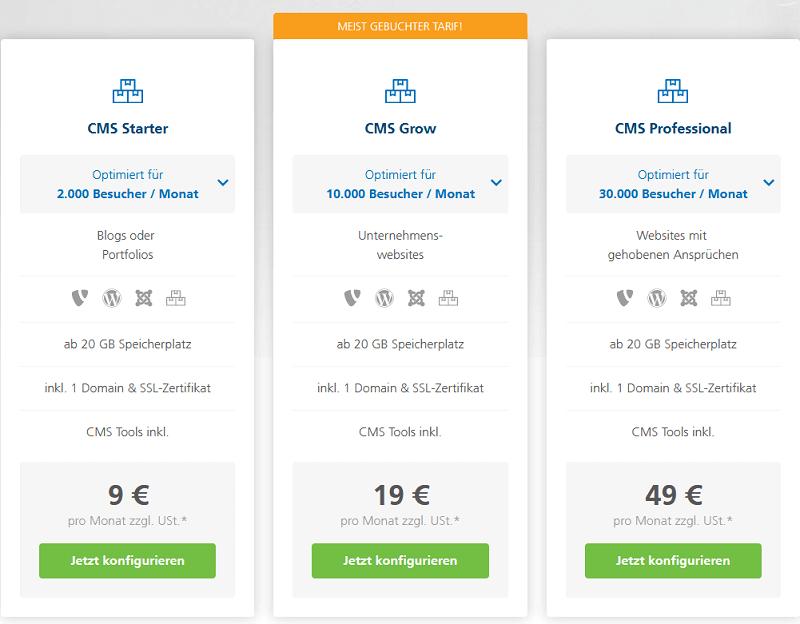 mittwald webhosting preise kosten