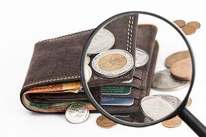 geldbeutel und geld